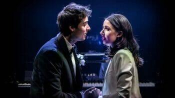 Oli Higginson Molly Lynch in The Last Five Years Southwark Playhouse ©Pamela Raith